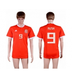 Wales #9 Rush Red Home Soccer Club Jersey