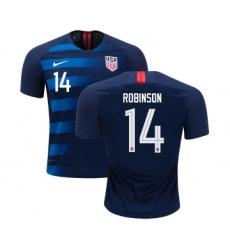 Women's USA #14 Robinson Away Soccer Country Jersey