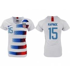 Women's USA #15 Rapinoe Home Soccer Country Jersey