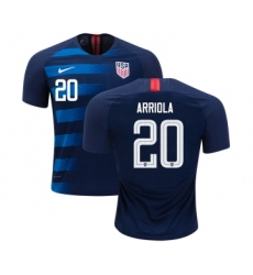 USA #20 Arriola Away Kid Soccer Country Jersey