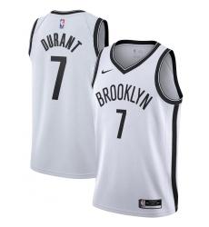 Men's Brooklyn Nets #7 Kevin Durant Nike White 2020-21 Swingman Jersey