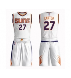 Men's Phoenix Suns #27 Jevon Carter Swingman White Basketball Suit Jersey - Association Edition