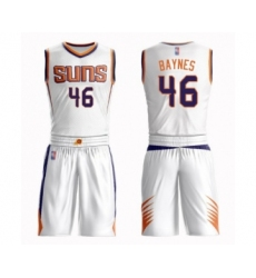 Men's Phoenix Suns #46 Aron Baynes Swingman White Basketball Suit Jersey - Association Edition