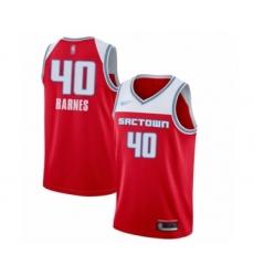 Men's Sacramento Kings #40 Harrison Barnes Swingman Red Basketball Jersey - 2019-20 City Edition