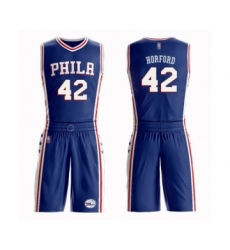 Men's Philadelphia 76ers #42 Al Horford Swingman Blue Basketball Suit Jersey - Icon Edition
