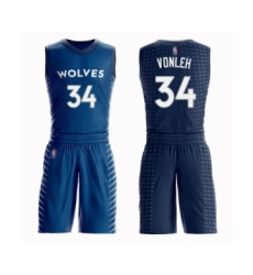 Men's Minnesota Timberwolves #34 Noah Vonleh Swingman Blue Basketball Suit Jersey