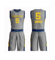 Women's Memphis Grizzlies #5 Bruno Caboclo Swingman Gray Basketball Suit Jersey - City Edition