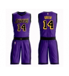 Women's Los Angeles Lakers #14 Danny Green Swingman Purple Basketball Suit Jersey - City Edition