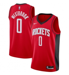 Men's Houston Rockets #0 Russell Westbrook Nike Red 2020-21 Swingman Jersey