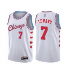 Men's Chicago Bulls #7 Timothe Luwawu Authentic White Basketball Jersey - City Edition