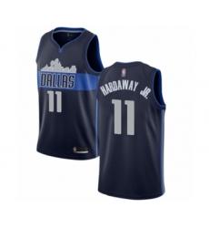 Men's Dallas Mavericks #11 Tim Hardaway Jr. Authentic Navy Blue Basketball Jersey Statement Edition