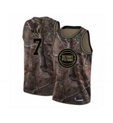 Men's Detroit Pistons #7 Thon Maker Swingman Camo Realtree Collection Basketball Jersey