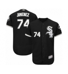 Men's Chicago White Sox #74 Eloy Jimenez Black Alternate Flex Base Authentic Collection Baseball Jersey