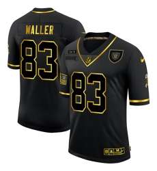 Men's Oakland Raiders #83 Darren Waller Gold Nike 2020 Salute To Service Limited Jersey