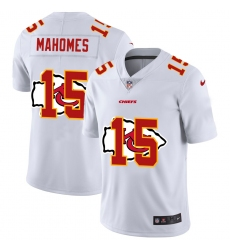 Men's Kansas City Chiefs #15 Patrick Mahomes White Nike White Shadow Edition Limited Jersey