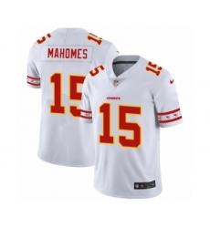 Men's Kansas City Chiefs #15 Patrick Mahomes White Team Logo Cool Edition Jersey