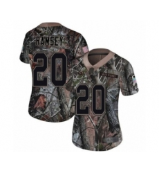 Women's Los Angeles Rams #20 Jalen Ramsey Camo Rush Realtree Limited Football Jersey