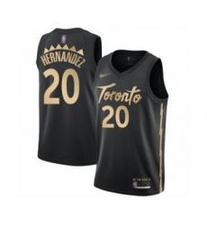 Men's Toronto Raptors #20 Dewan Hernandez Swingman Black Basketball Jersey - 2019 20 City Edition