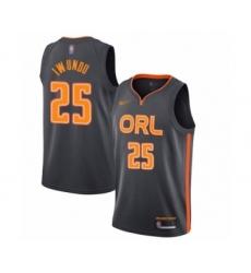 Men's Orlando Magic #25 Wes Iwundu Swingman Charcoal Basketball Jersey - 2019 20 City Edition