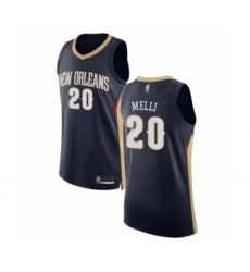 Men's New Orleans Pelicans #20 Nicolo Melli Authentic Navy Blue Basketball Jersey - Icon Edition