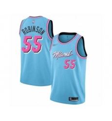 Men's Miami Heat #55 Duncan Robinson Swingman Blue Basketball Jersey - 2019 20 City Edition