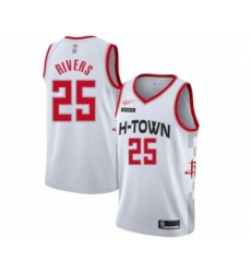 Men's Houston Rockets #25 Austin Rivers Swingman White Basketball Jersey - 2019 20 City Edition