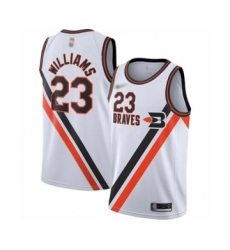 Men's Los Angeles Clippers #23 Lou Williams Swingman White Hardwood Classics Finished Basketball Jersey