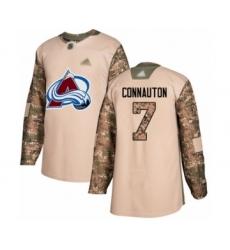 Men's Colorado Avalanche #7 Kevin Connauton Authentic Camo Veterans Day Practice Hockey Jersey