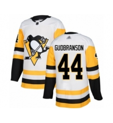 Men's Pittsburgh Penguins #44 Erik Gudbranson Authentic White Away Hockey Jersey