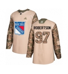 Men's New York Rangers #97 Matthew Robertson Authentic Camo Veterans Day Practice Hockey Jersey
