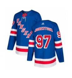 Men's New York Rangers #97 Matthew Robertson Authentic Royal Blue Home Hockey Jersey