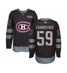 Men's Montreal Canadiens #59 Gianni Fairbrother Authentic Black 1917-2017 100th Anniversary Hockey Jersey