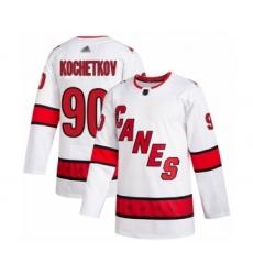Men's Carolina Hurricanes #90 Pyotr Kochetkov Authentic White Away Hockey Jersey