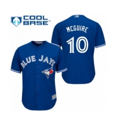 Youth Toronto Blue Jays #10 Reese McGuire Authentic Blue Alternate Baseball Player Jersey