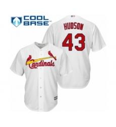 Youth St. Louis Cardinals #43 Dakota Hudson Authentic White Home Cool Base Baseball Player Jersey