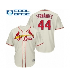 Youth St. Louis Cardinals #44 Junior Fernandez Authentic Cream Alternate Cool Base Baseball Player Jersey