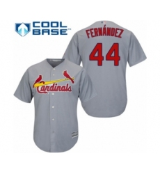 Youth St. Louis Cardinals #44 Junior Fernandez Authentic Grey Road Cool Base Baseball Player Jersey