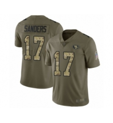 Men's San Francisco 49ers #17 Emmanuel Sanders Limited Olive Camo 2017 Salute to Service Football Jersey