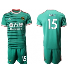 Wolves #15 Boly Third Soccer Club Jersey