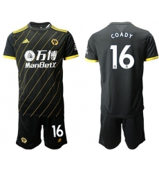 Wolves #16 Coady Away Soccer Club Jersey