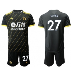 Wolves #27 Saiss Away Soccer Club Jersey