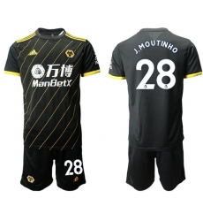 Wolves #28 J.Moutinho Away Soccer Club Jersey