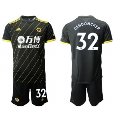 Wolves #32 Dendoncker Away Soccer Club Jersey