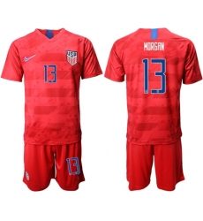 USA #13 Morgan Away Soccer Country Jersey