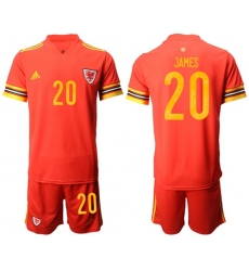 Wales #20 James Home Soccer Country Jersey