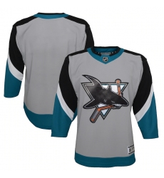Youth San Jose Sharks Blank Gray 2020-21 Special Edition Premier Jersey