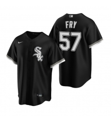 Men's Nike Chicago White Sox #57 Jace Fry Black Alternate Stitched Baseball Jersey