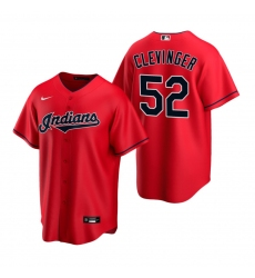 Men's Nike Cleveland Indians #52 Mike Clevinger Red Alternate Stitched Baseball Jersey