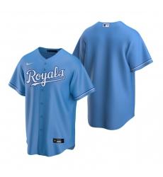 Men's Nike Kansas City Royals Blank Light Blue Alternate Stitched Baseball Jersey