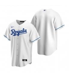 Men's Nike Kansas City Royals Blank White Home Stitched Baseball Jersey